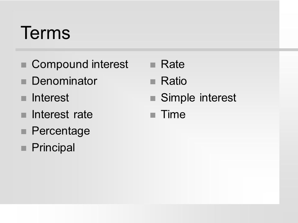 Interest Approach What are some agricultural occupations which might require calculating interest rates.