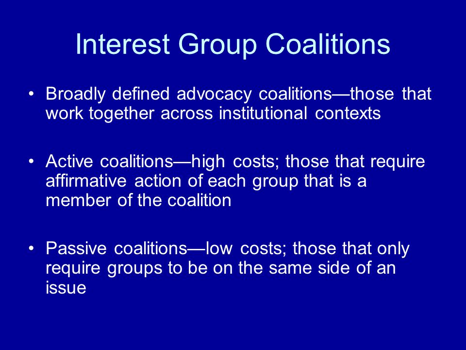 Conclusions The Extended Party Organization: Different in Elections and Legislative Debate Party Differences - No Match to Stereotypes Signaling in Interest Group Coalitions: Many Large Coalitions; Some Bipartisan Legislative Polarization: Interest Groups - Not Polarized Most central actors are partisan—what does that mean?