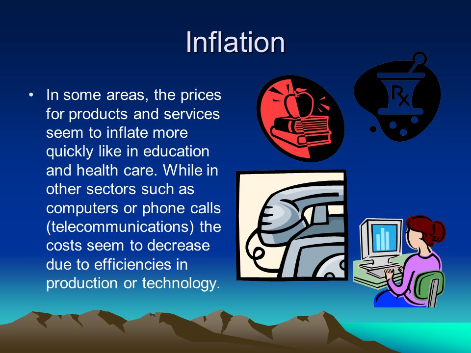 Inflation and Interest Rates So while the cost of the postage stamp may have risen 7 or 8 fold over 4 or 5 decades, the cost of the long distance phone call or a hand calculator has decreased multifold.