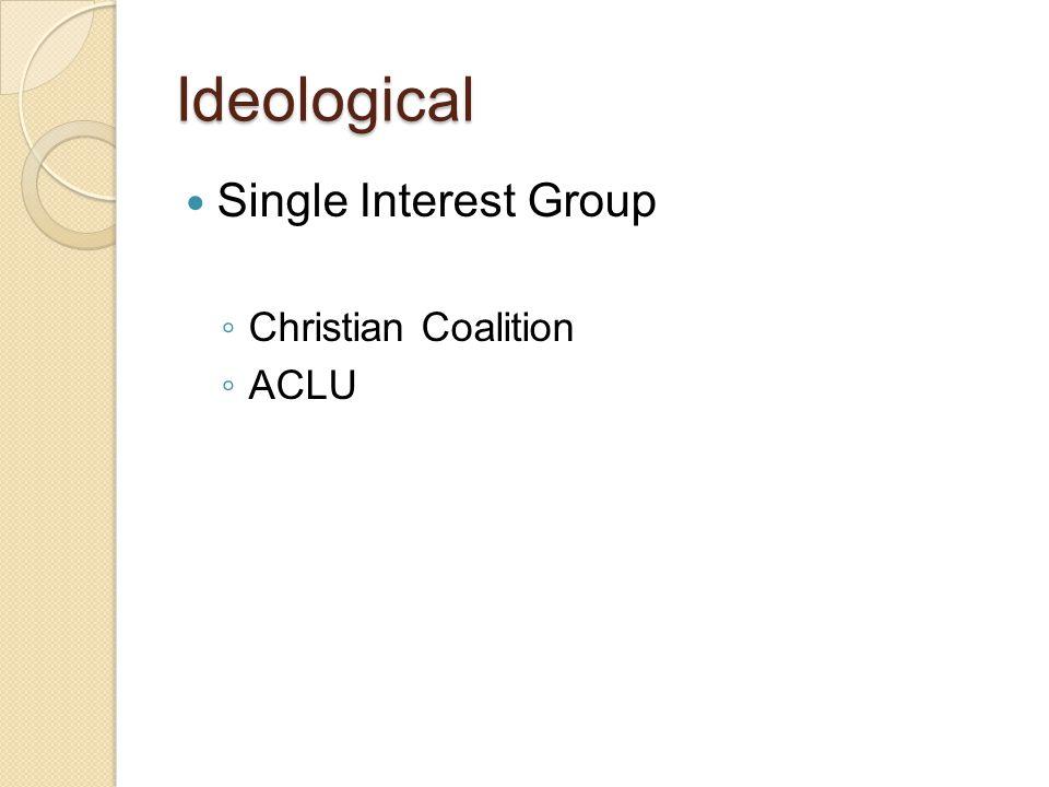 Public Interest Group Public Charity Groups ◦ American Heart Association