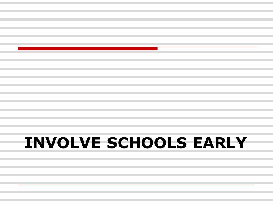 INVOLVE SCHOOLS EARLY