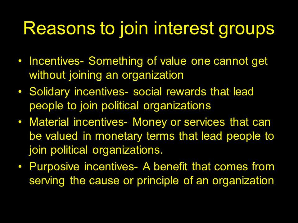 Ideological interest group vs.