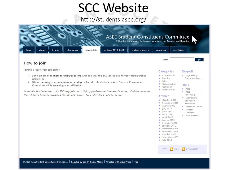 SCC Website http://students.asee.org/