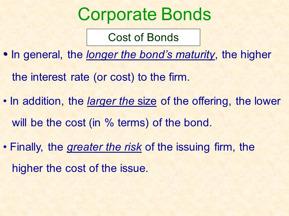 Corporate Bonds The conversion feature of convertible bonds allows bondholders to exchange their bonds for a specified number of shares of common stock.