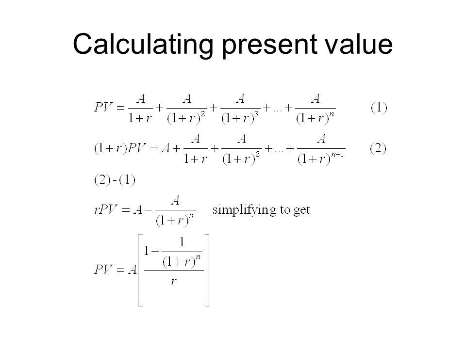 Calculating present value