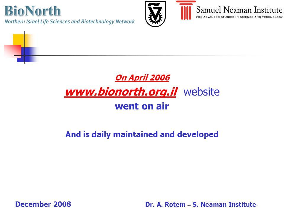 December 2008 Dr. A. Rotem – S.