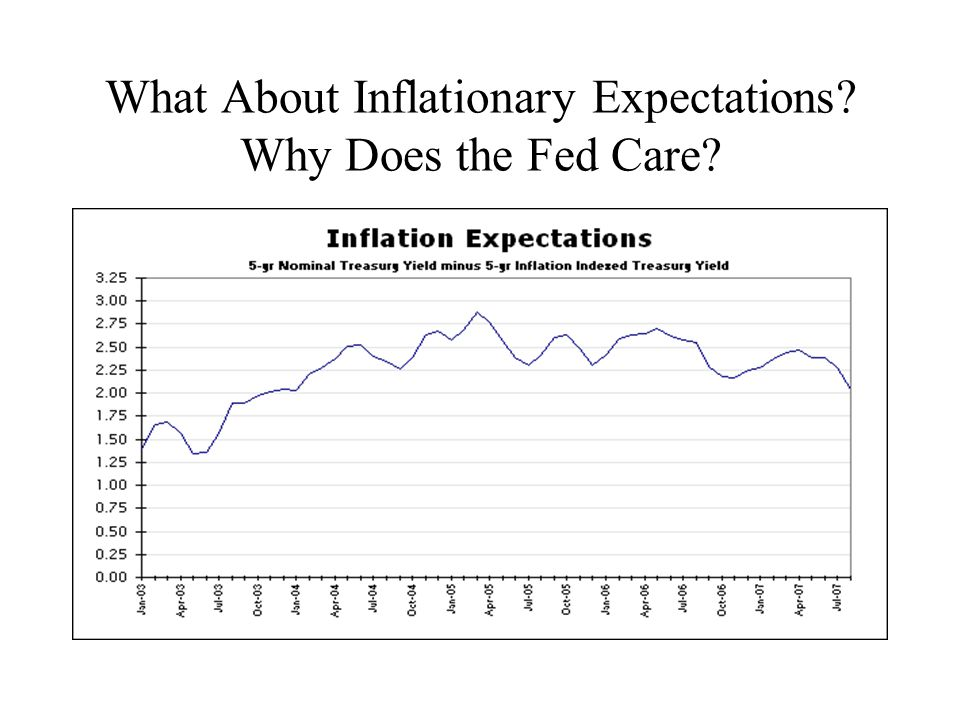 What About Inflationary Expectations Why Does the Fed Care