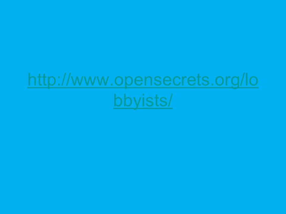 http://www.opensecrets.org/lo bbyists/