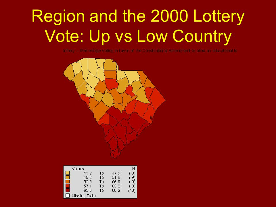 Region and the 2000 Lottery Vote: Up vs Low Country