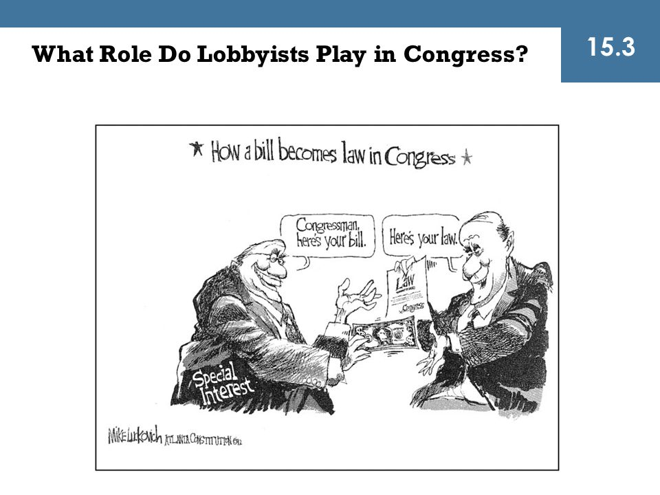 What Role Do Lobbyists Play in Congress? 15.3