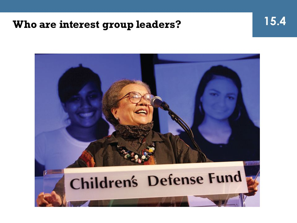 Who are interest group leaders? 15.4