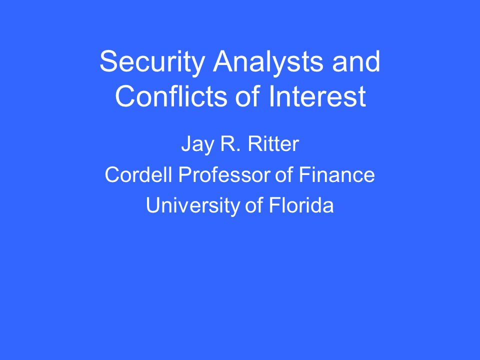 Are conflicts of interest different for affiliated and unaffiliated analysts.