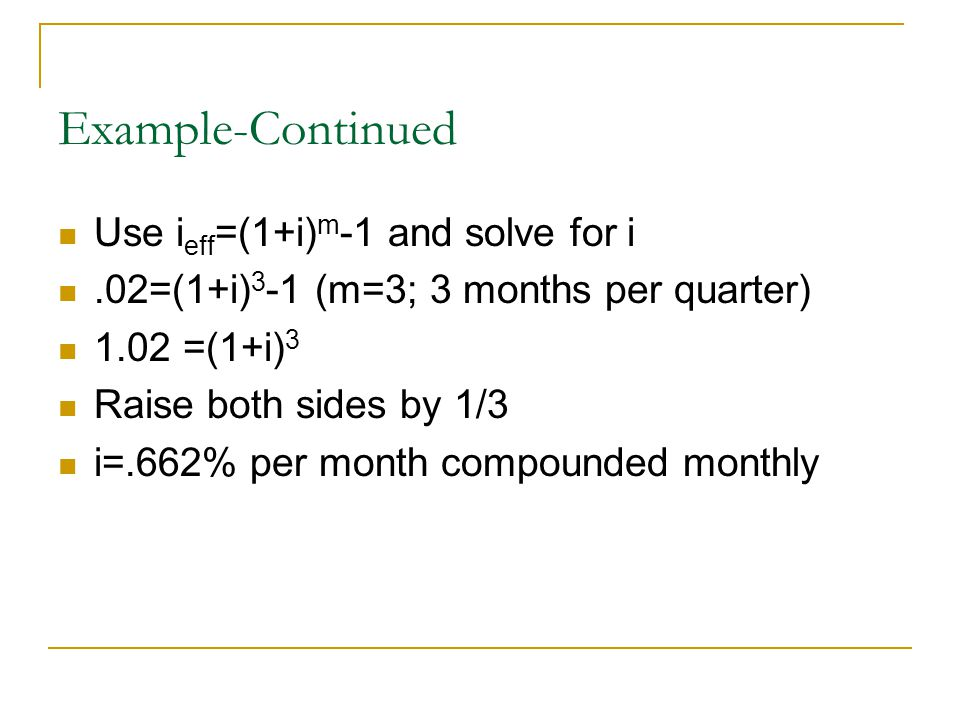 Continuous Compounding; Single Cash Flow If $2000 is invested in a fund that pays interest @ a rate of 10% per year compounded continuously, how much will the fund be worth in 5 years.