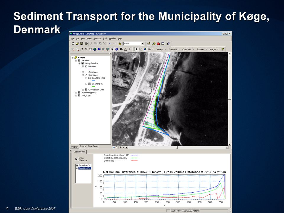 ESRI User Conference 2007 16 Sediment Transport for the Municipality of Køge, Denmark
