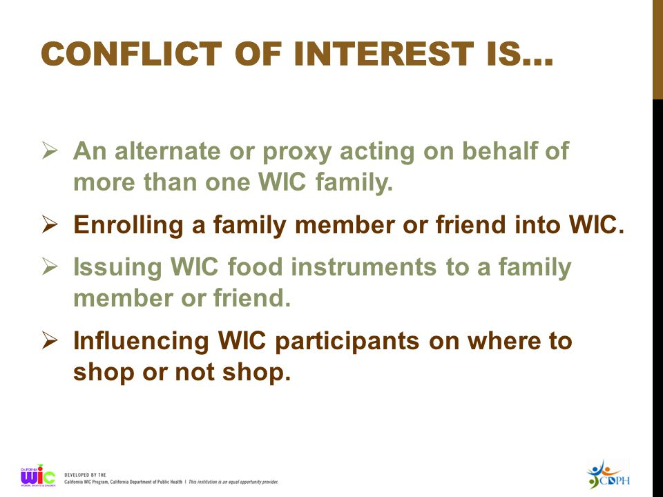 Conflict of Interest Scenarios TESTING YOUR KNOWLEDGE