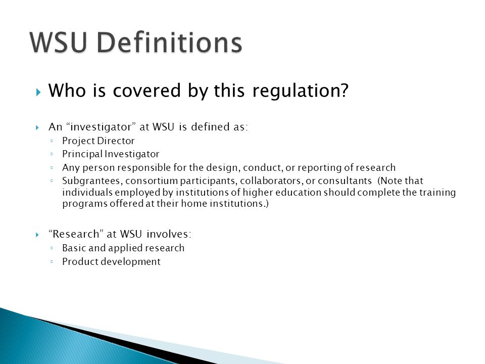  Who is covered by this regulation.