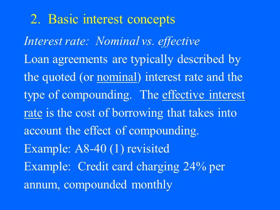 2. Basic interest concepts Interest rate: Nominal vs.