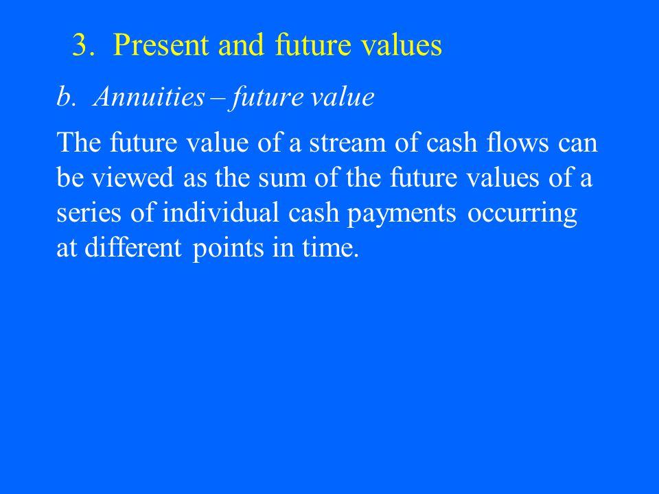 3. Present and future values b.