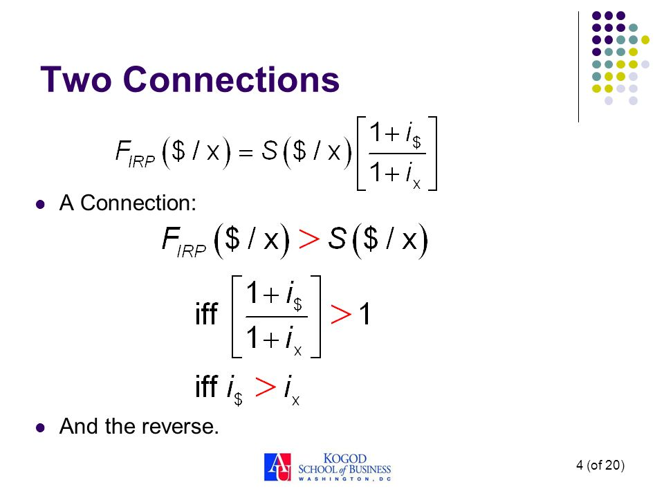 4 (of 20) A Connection: And the reverse. Two Connections