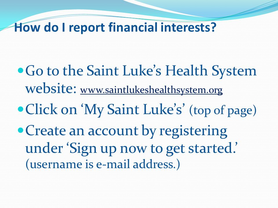 How do I report financial interests.