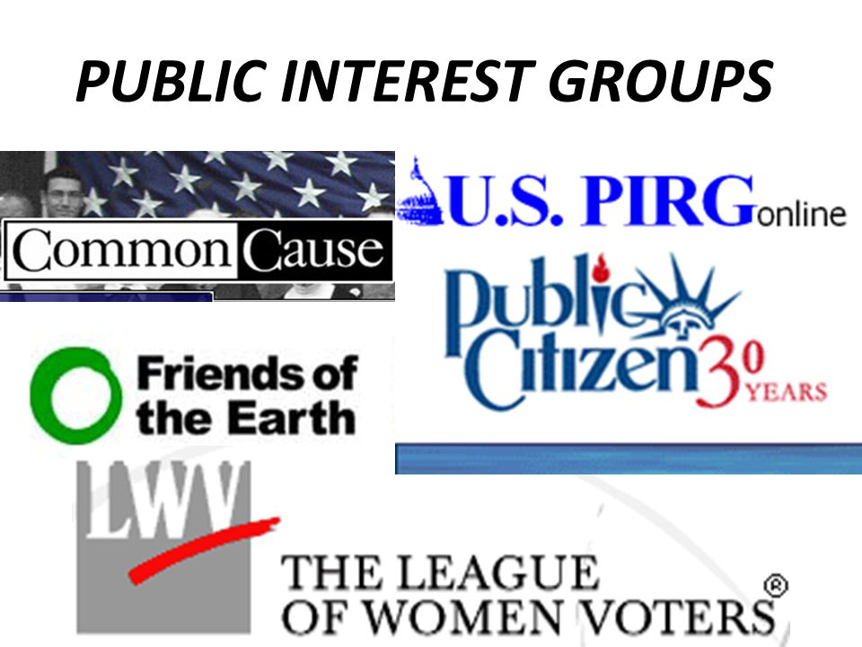PUBLIC INTEREST GROUPS