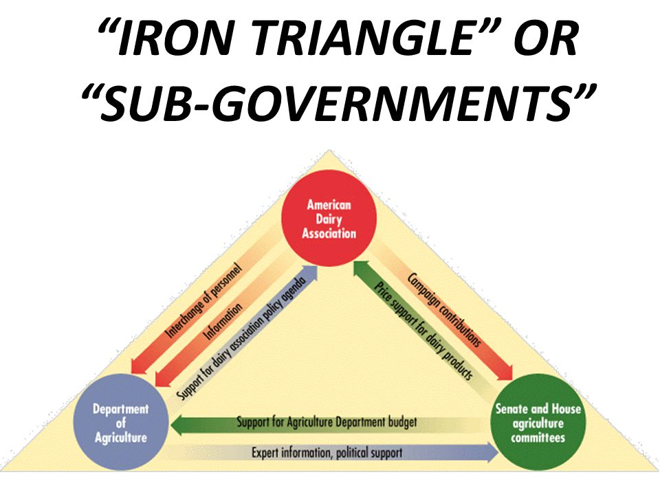 """IRON TRIANGLE"" OR ""SUB-GOVERNMENTS"""