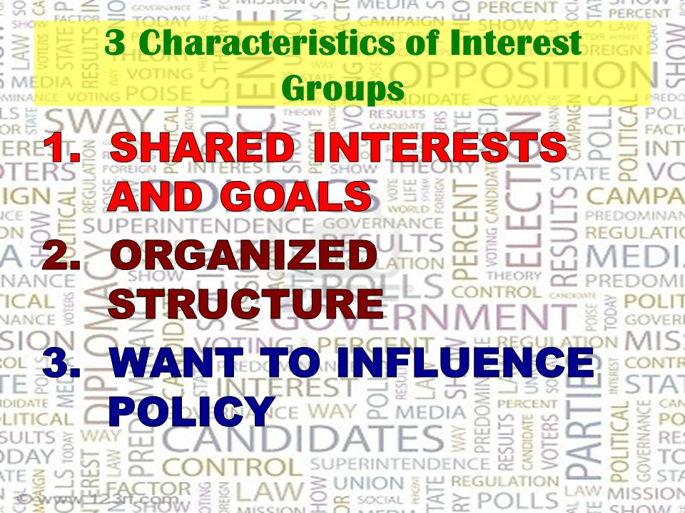 3 Characteristics of Interest Groups