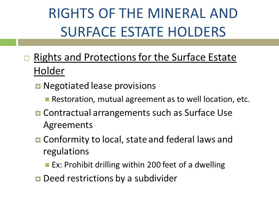 ISSUE 5: DUHIG RULE  If Sue intends to reserve half of the minerals she owns under a given tract, she should reserve an undivided one-half of all oil, gas and other minerals owned by grantor rather than the fractional interest she believes this to be.