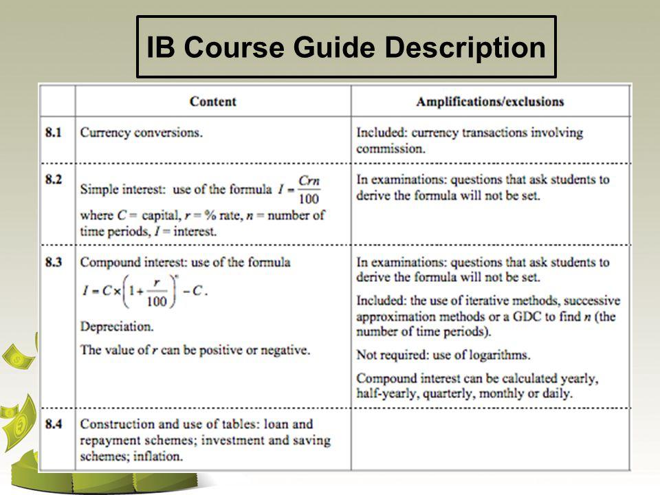 IB Course Guide Description