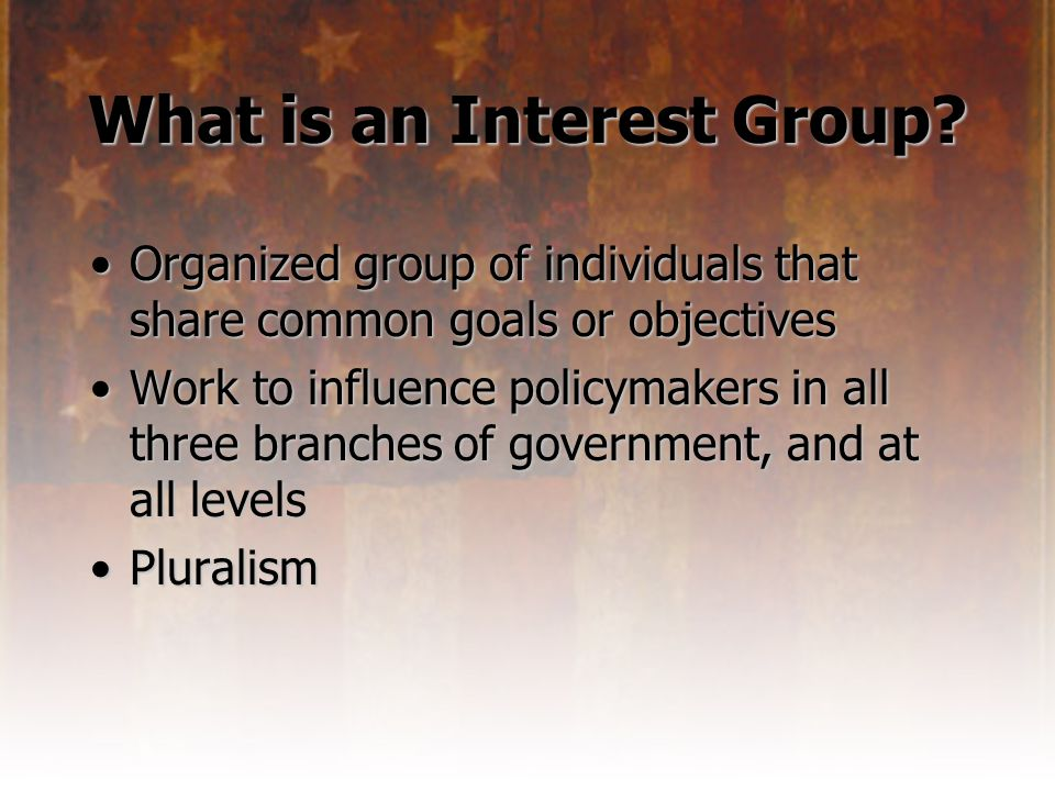 What is an Interest Group.