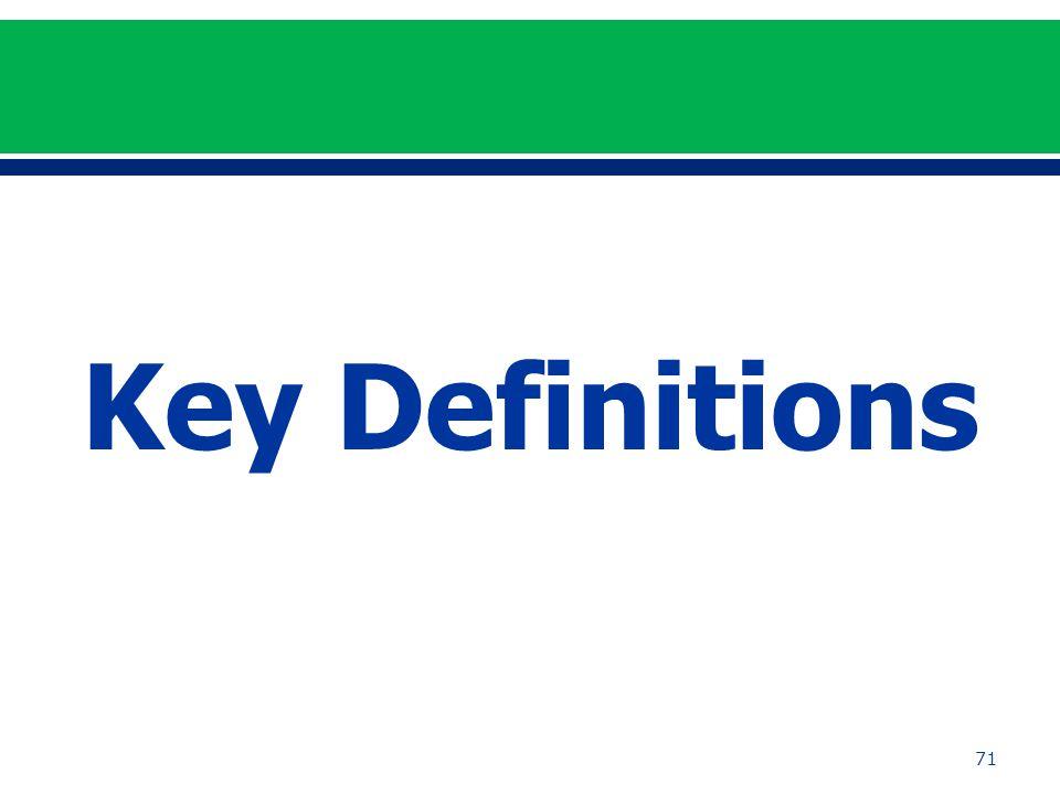 71 Key Definitions