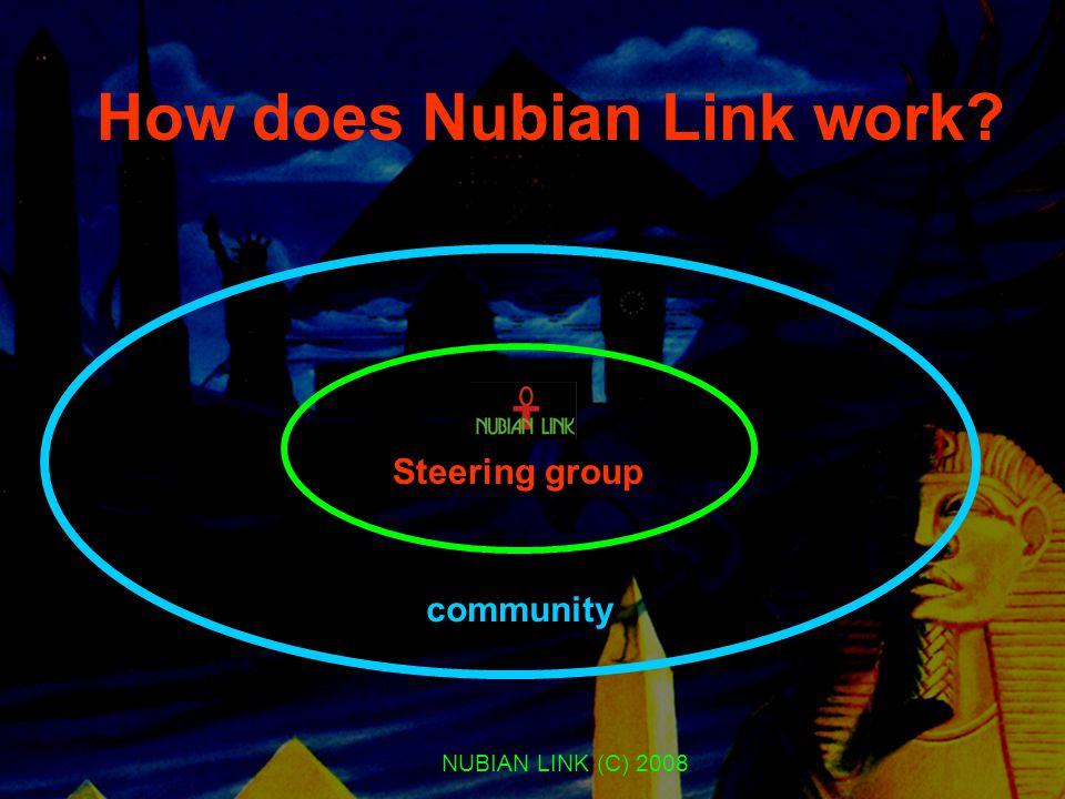 NUBIAN LINK (C) 2008 How does Nubian Link work? Steering group community