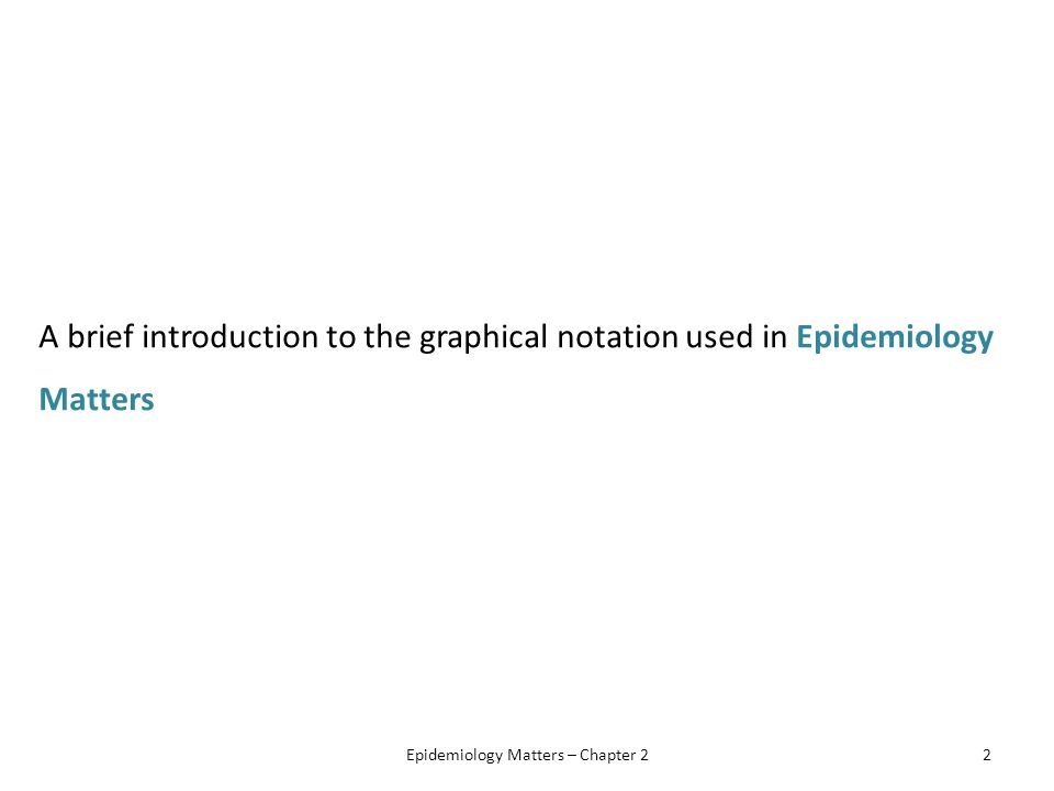 A brief introduction to the graphical notation used in Epidemiology Matters Epidemiology Matters – Chapter 22