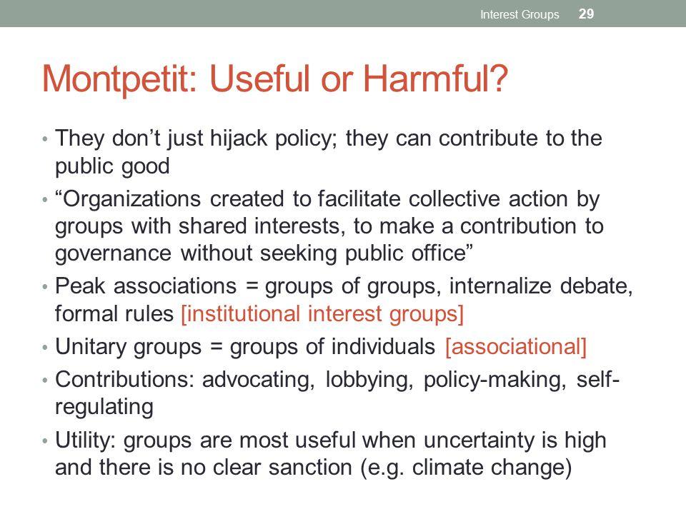Montpetit: Useful or Harmful.