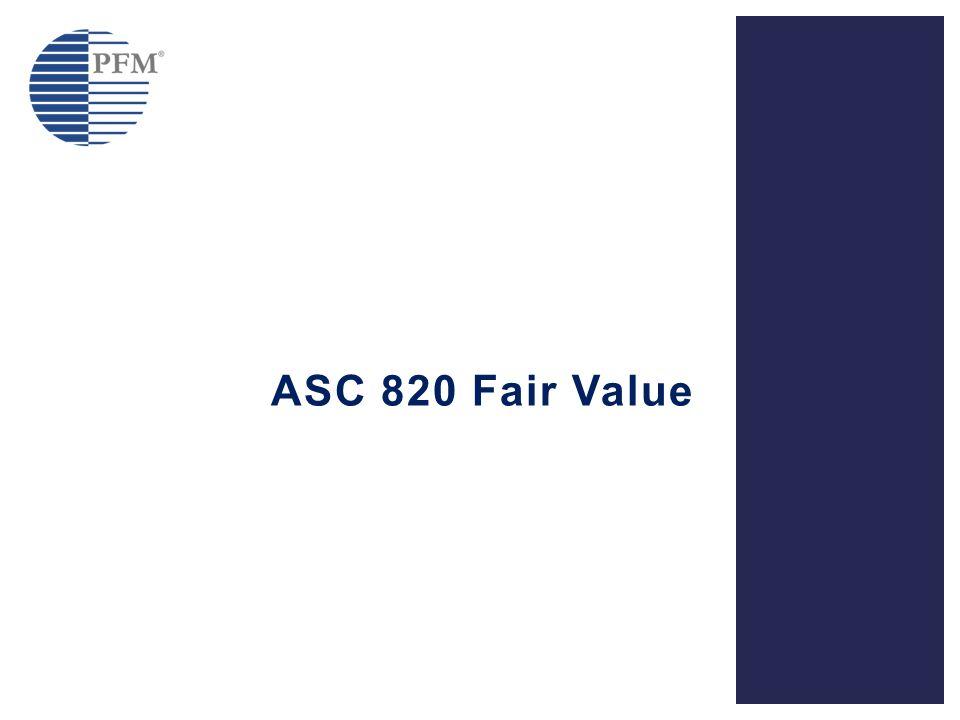 ASC 820 Fair Value