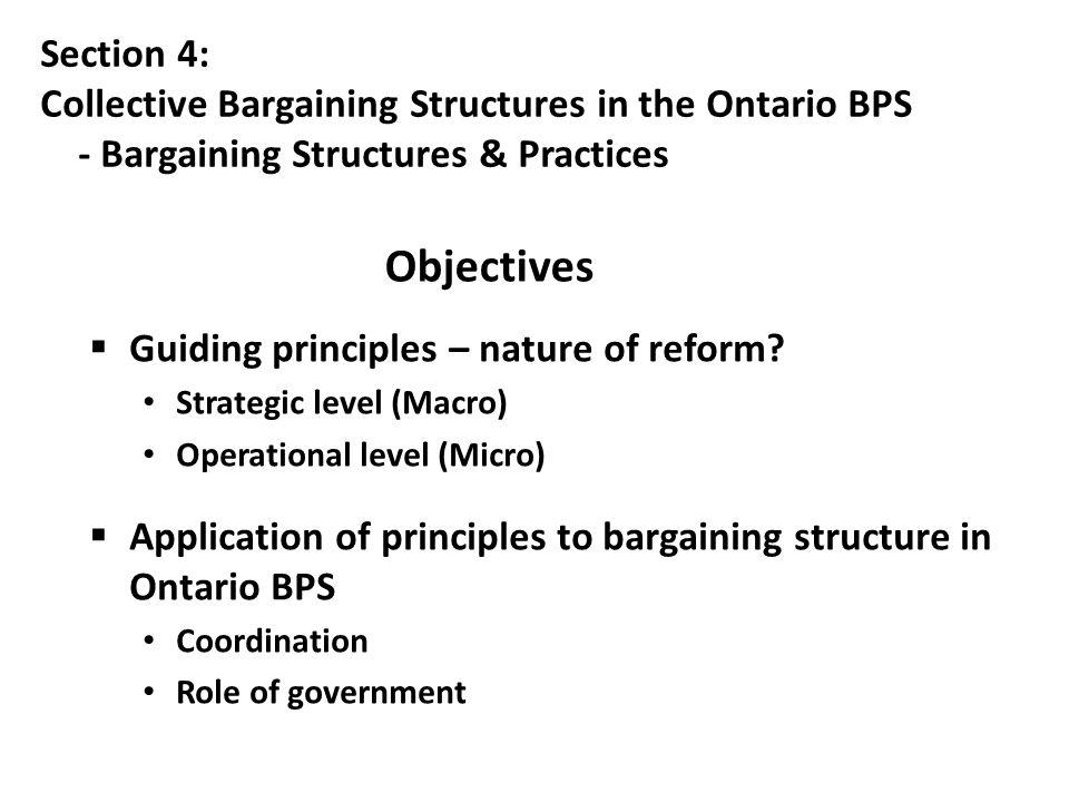  Guiding principles – nature of reform.