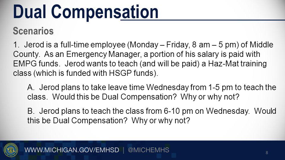 Scenarios Dual Compensation 1.