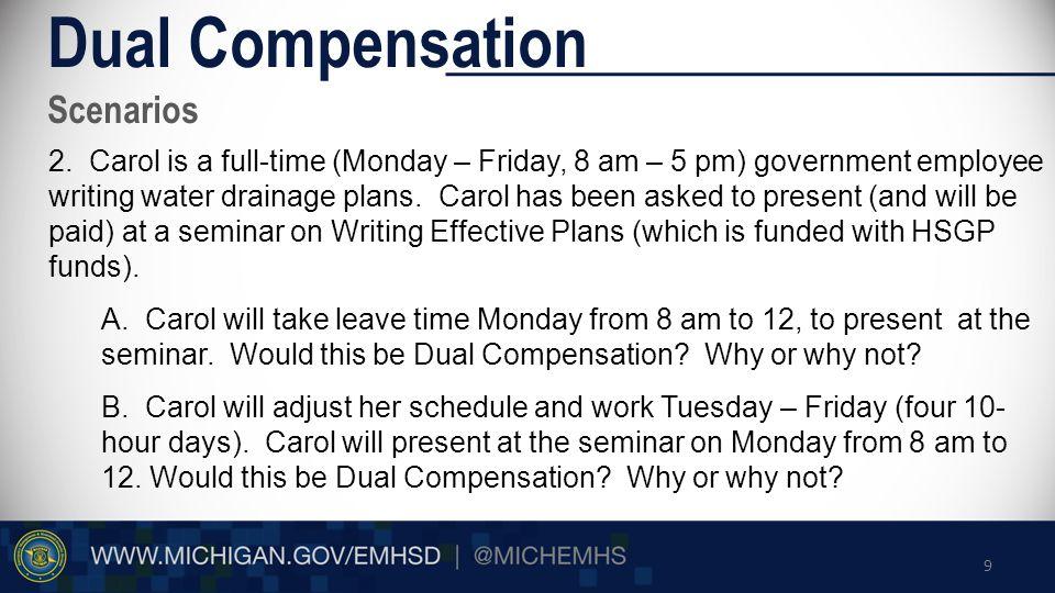 Scenarios Dual Compensation 2.