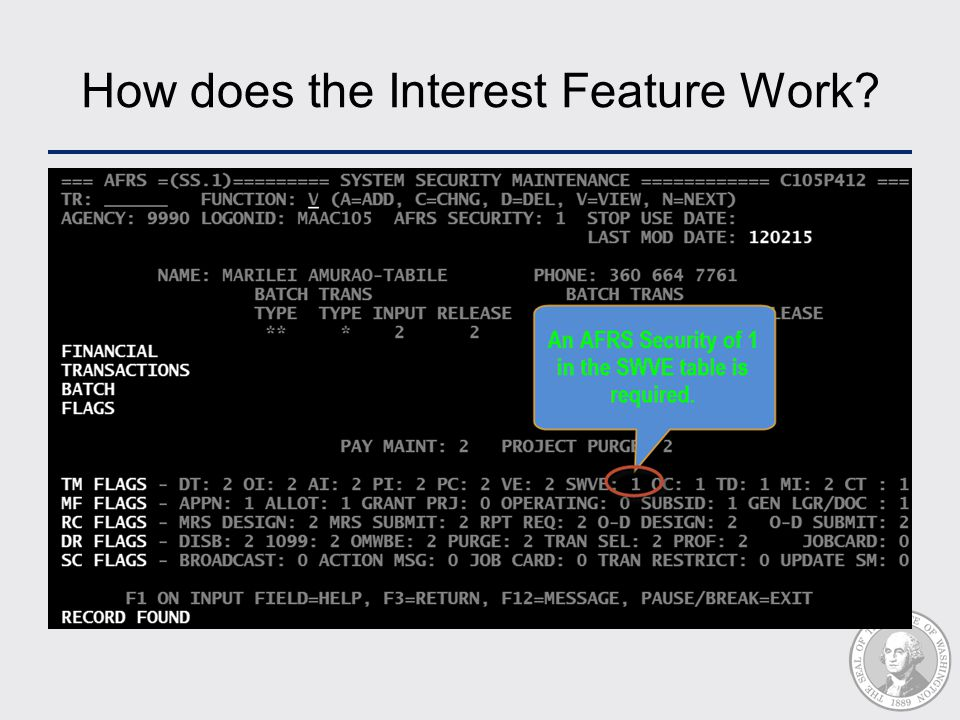 How does the Interest Feature Work?