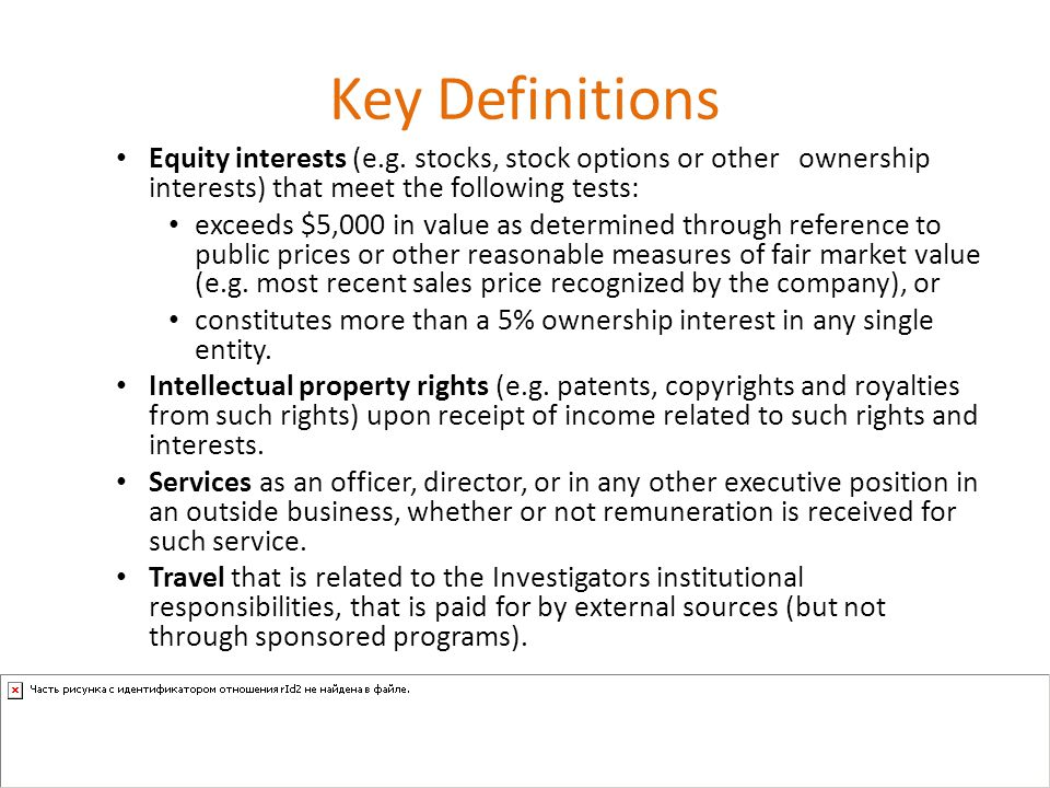 Key Definitions Equity interests (e.g.