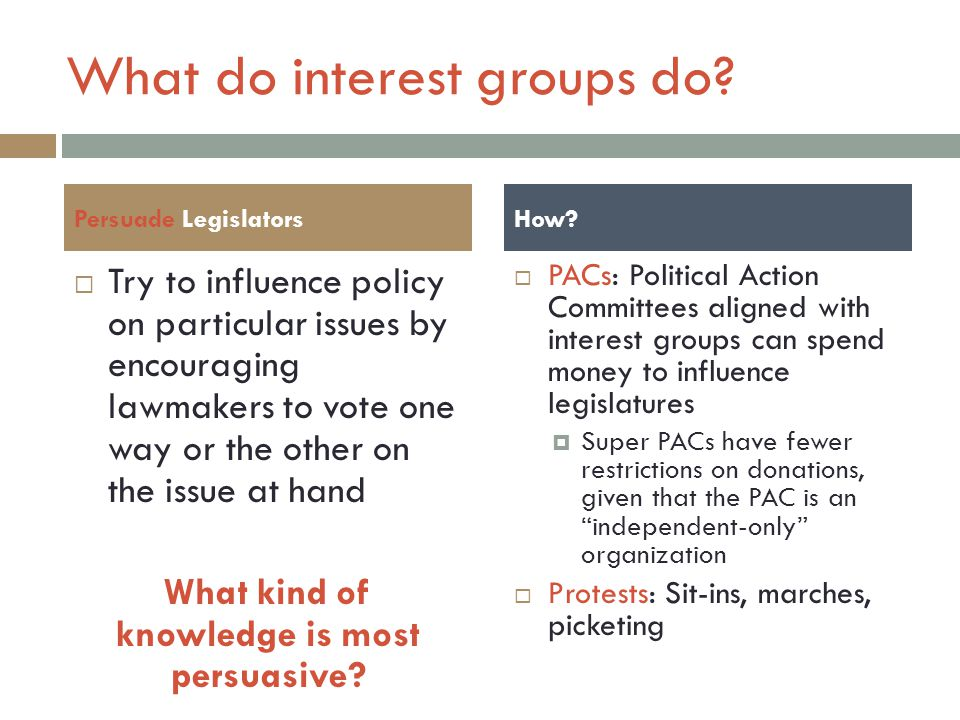 How are interest groups funded.
