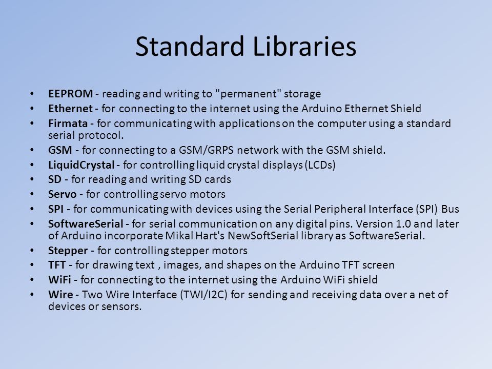 Standard Libraries EEPROM - reading and writing to