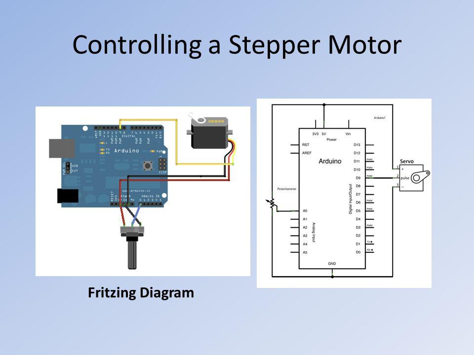 Controlling a Stepper Motor Fritzing Diagram