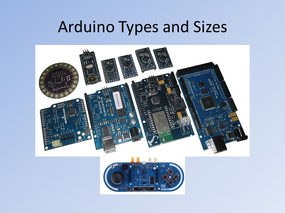 Arduino Types and Sizes