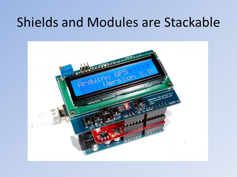 Shields and Modules are Stackable