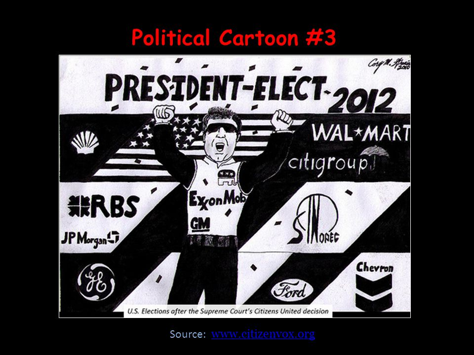 Political Cartoon #3 Source: www.citizenvox.orgwww.citizenvox.org