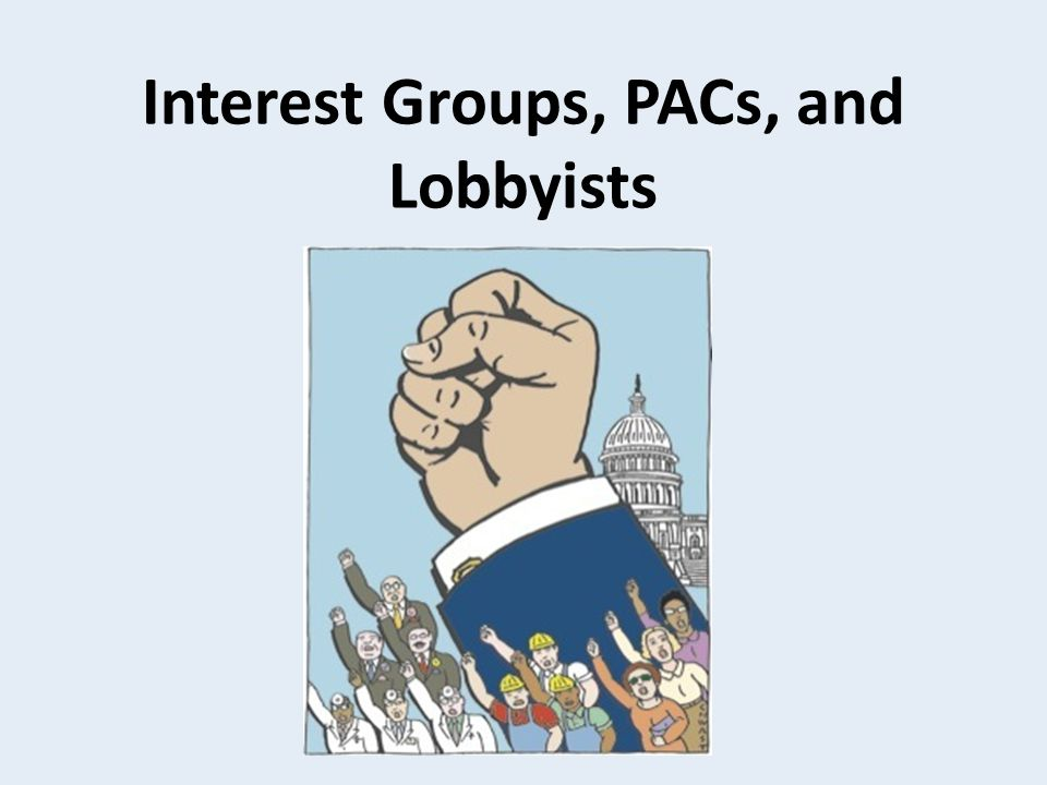 Interest Groups Group of people with common goals who work together to influence government and public policy AKA faction, pressure, group, special interest