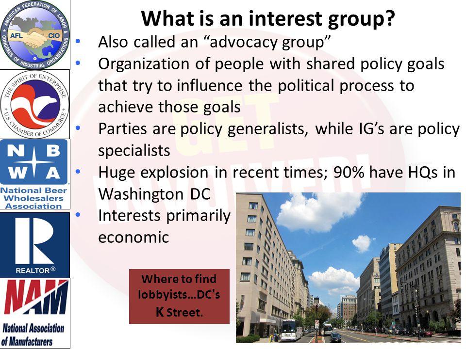 Interest groups: Good or Evil.
