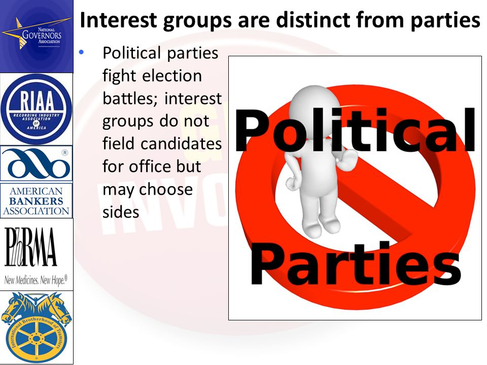 The roles of interest groups What do interest groups do.