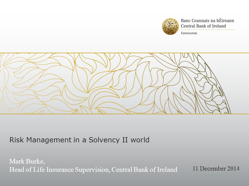 Agenda 1.CBI Observations on existing risk management practices 2.Opportunities to further enhance Solvency II risk dialogue 1.Board emphasis on risk strategy and risk culture 2.Constructive Board engagement in the ORSA 3.Positioning the Risk Management Function for success in a Solvency II environment